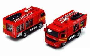 "New 5"" Kinsfun Rescue Fire Engine Emergency Truck Diecast Model Toy Car"