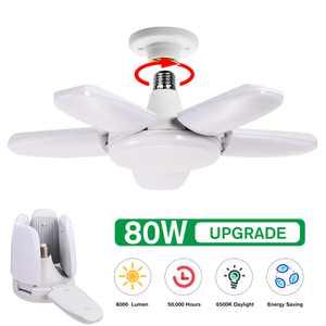 Foldable LED Garage Light Deformable Ceiling Light Angle Adjustable, for Basement Garage Shop Ceiling Work Lighting