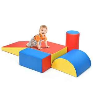 5 Piece Climb and Crawl Foam Activity Play Set,Safe Active Climbing,Lightweight Interactive Set