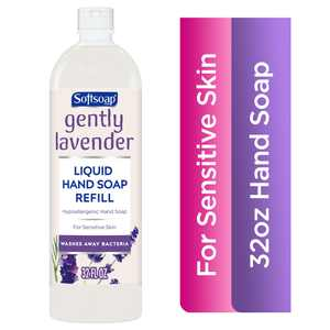 Softsoap Liquid Hand Soap Refill Bottle, Gently Lavender, 32 fl. Oz.