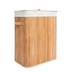 UBesGoo Natural Wood Laundry Hamper Bag Wicker Organizer Clothes Washing Storage Basket