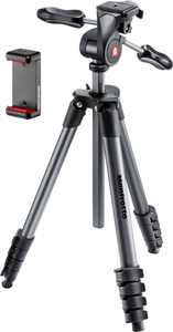 "Manfrotto - Compact Advanced Smart 65"" Tripod - Black"