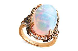 Opal (6 1/2 ct. t.w.) & Diamond (3/4 ct. t.w.) in 14k Rose Gold