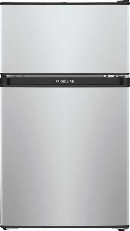 Frigidaire - 3.1 Cu. Ft. Mini Fridge with Built-In Freezer - Silver