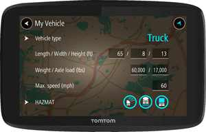 """TomTom - TRUCKER 620 6"""" GPS with Built-In Bluetooth, Lifetime Map Updates and Lifetime Traffic Updates - Black"""
