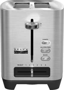 Bella - Pro Series 2-Slice Extra-Wide-Slot Toaster - Stainless Steel