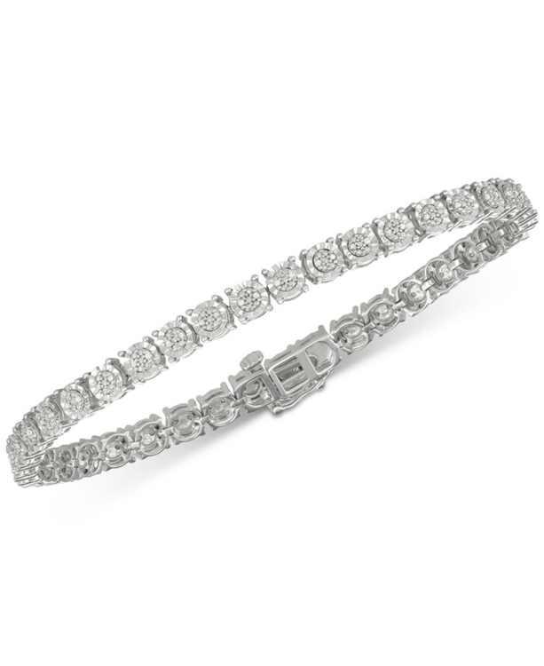 Diamond Tennis Bracelet (1/4 ct. t.w.) in Sterling Silver