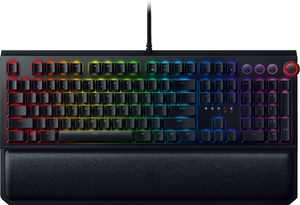 BlackWidow Elite Wired Gaming Mechanical Razer Green Switch Keyboard with RGB Back Lighting - Black
