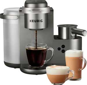 Keurig - K-Cafe Special Edition Single Serve K-Cup Pod Coffee Maker with Milk Frother - Nickel