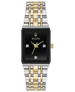 Women's Futuro Diamond-Accent Two-Tone Stainless Steel Bracelet Watch 20.5x32mm, Created for Macy's