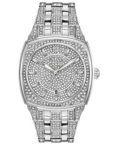 Men's Stainless Steel & Crystal-Accent Bracelet Watch 40mm