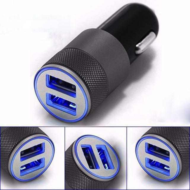 Outtop Mini Dual USB Twin Port 12V Universal In Car Lighter Socket Charger Adapter plug