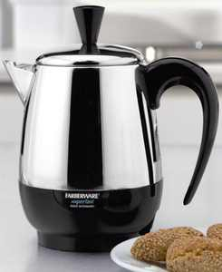 2-4 Cup Electric Percolator, Stainless Steel, FCP240