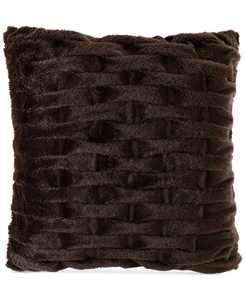 """Ruched 20"""" Square Faux-Fur Decorative Pillow"""