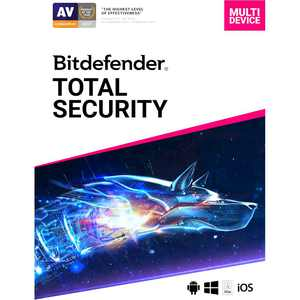 Bitdefender Total Security (5-Device) (1-Year Subscription) - Android, Mac, Windows, iOS