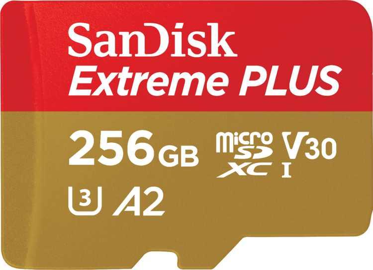 SanDisk - Extreme PLUS 256GB microSDXC UHS-I Memory Card