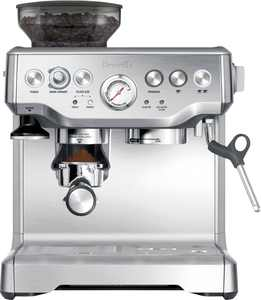 Breville - the Barista Express Espresso Machine with 15 bars of pressure, Milk Frother and intergrated grinder - Stainless Steel