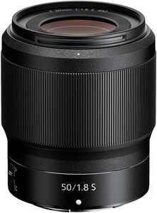 NIKKOR Z 50mm f/1.8 S Standard Prime Lens for Nikon Z Cameras - Black