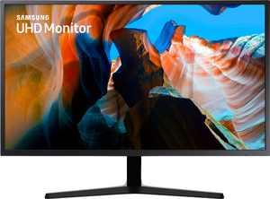 """Samsung - UJ59 Series U32J590UQN 32"""" LED 4K UHD FreeSync Monitor (DisplayPort, HDMI) - Dark Gray/Blue"""