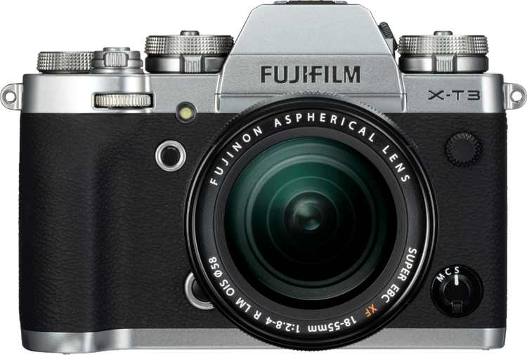 Fujifilm - X Series X-T3 Mirrorless Camera with XF18-55mm F2.8-4 R LM OIS Lens - Silver