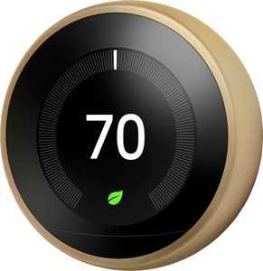 Google - Nest Learning Smart Wifi Thermostat - Brass