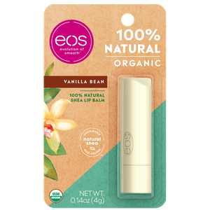 eos 100% Natural & Organic Lip Balm Stick - Vanilla Bean | 0.14 oz