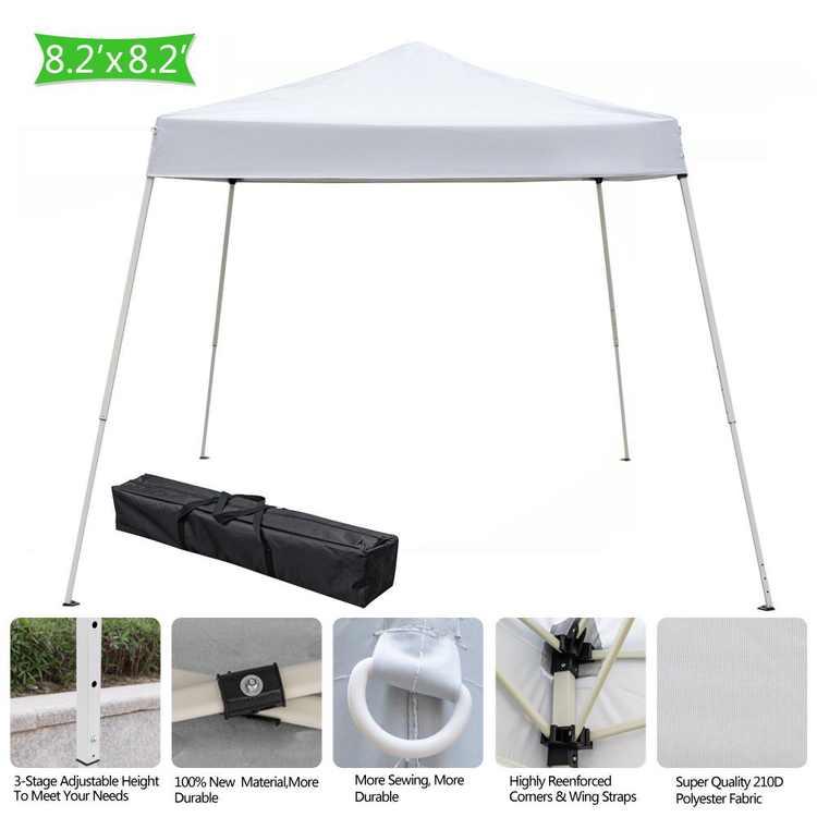UBesGoo Canopy 8'x8' EZ Pop Up Wedding Party Tent Outdoor Patio Folding Gazebo Canopy Shade Shelter