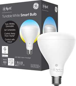 C by GE - BR30 Bluetooth Smart LED Floodlight Bulb with Google Assistant/Alexa/HomeKit - Adjustable White