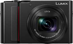 Panasonic - Lumix DC-ZS200 20.1-Megapixel Digital Camera - Black