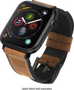 NEXT - Hybrid Leather Sport Band for Apple Watch 42mm and 44mm - Brown