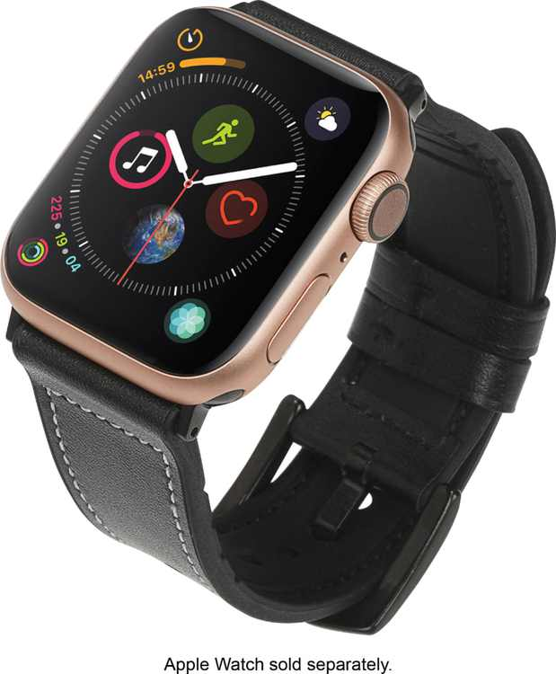 NEXT - Hybrid Leather Sport Band for Apple Watch 38mm and 40mm - Black