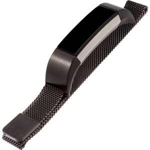 WITHit - Stainless Steel Mesh Band for Fitbit Alta and Alta HR - Black