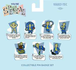 Rubber Road - Vault-Tec Collectible Pin Badge Set