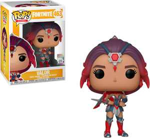 Funko - POP! Games: Fortnite Valor - Silver/Purple/Red