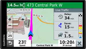 "Garmin - DriveSmart 65 & Traffic - 6.95"" GPS with Built-In Bluetooth - Black"