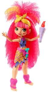Cave Club Emberly Doll (8 - 10-Inch) Prehistoric Fashion Doll with Dinosaur Pet