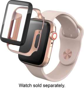 ZAGG - InvisibleShield Glass+ 360 Screen Protector for Apple Watch Series 4 40mm and Series 5 40mm - Gold