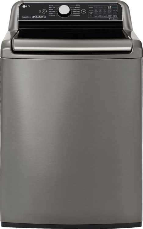 LG - 5.5 Cu. Ft. High-Efficiency Smart Top-Load Washer with TurboWash3D Technology - Graphite Steel