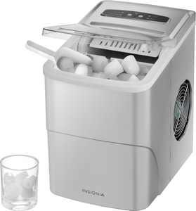 Insignia - 26-Lb. Portable Ice Maker - Silver
