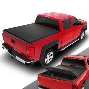 DNA Motoring TTC-TRISOFT-030 For 2007 to 2018 Chevy Silverado / GMC Sierra 1500 5.75' Bed Fleetside Tri -Fold Adjustable Soft Top Trunk Tonneau Cover 08 09