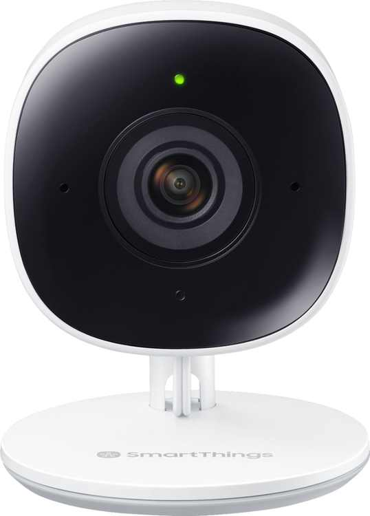 Samsung - SmartThings Indoor 1080p Wi-Fi Wireless Security Camera - White