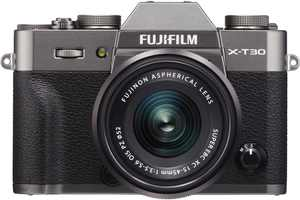 Fujifilm - X Series X-T30 Mirrorless Camera with 15-45mm Lens - Charcoal Silver
