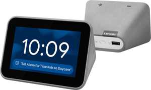 Lenovo - Smart Clock with Google Assistant - Gray