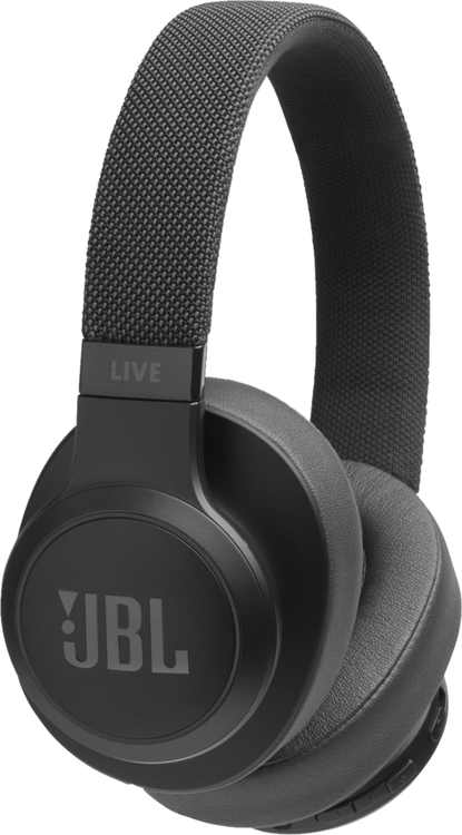 JBL - LIVE 500BT Wireless Over-the-Ear Headphones - Black
