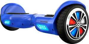 Swagtron - T882 Electric Self-Balancing Scooter w/4.8 mi Max Operating Range & 6.8 mph Max Speed - Blue