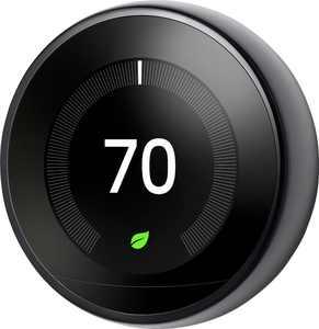 Google - Nest Learning Smart Wifi Thermostat - Black