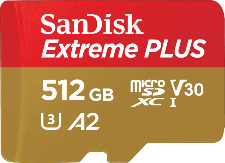 SanDisk - Extreme PLUS 512GB microSDXC UHS-I Memory Card