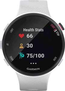 Garmin - Forerunner 45S GPS Heart Rate Monitor Running Smartwatch - White