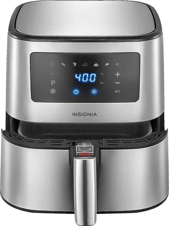 Insignia - 5-qt. Digital Air Fryer - Stainless Steel