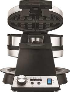 Bella Pro Series - Pro Series Belgian Flip Waffle Maker - Stainless Steel